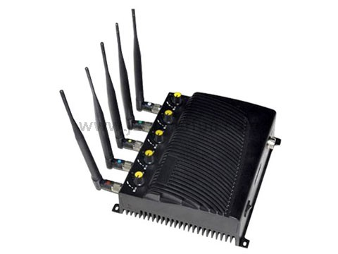 4G Wimax Signal Isolator - Powerful 3G 4G Cell Phone Wifi Jammer With 5 Powerful Antennas