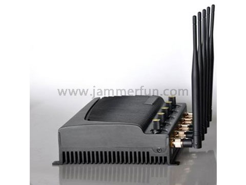 Mobile Blocker Sales - Buy 4G Wimax Signal Jammer - High Power 4G Cell Phone GPS Wifi Jammer With 5 Powerful Antennas