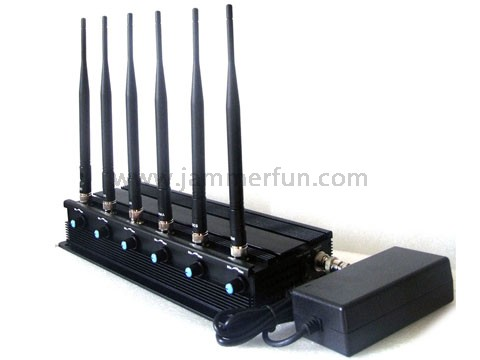 3G 4G WIFI GSM DCS Adjustable Signal Jammer - 4G 800 4G 2600 3G 2100 GSM 900 DCS 1800 WIFI 2.4G (Europe Version)