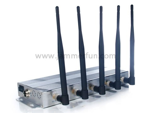 Powerful 5 Antennas 3G 4G Cell Phone Jammer For Sale
