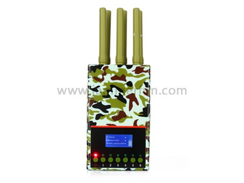 signal blocker jammer yakima , Military Edition Latest 6 Band Portable 2G 3G 4G LTE WIMAX Cell Phone Signal Jammer