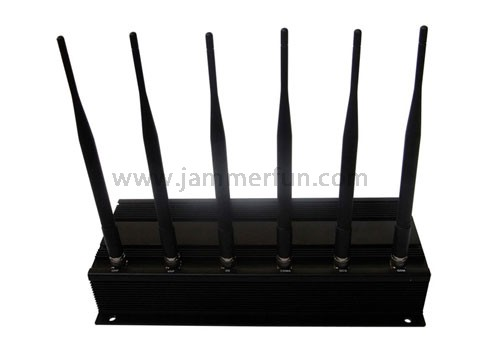 Powerful Signal Jammer - 6 Antenna Cell Phone Jammer And Radio Frequency Jammer