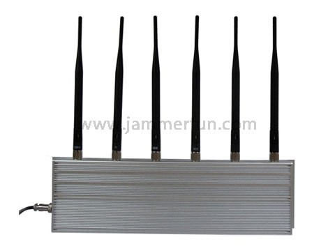 High Power CDMA GSM DCS PCS 3G 315MHz 433MHz 6 Antennas Cell Phone RF Jammer Blockers