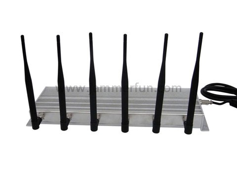 Cell phine jammer - High Power CDMA GSM DCS PCS 3G 315MHz 433MHz 6 Antennas Cell Phone RF Jammer Blockers