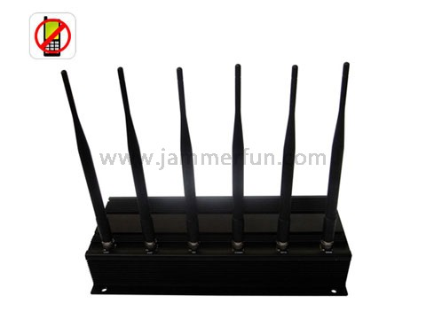 Cell Phone Blocker wholesale - 4G Cell Phone Blocker - 3G/4G High Power Cell phone Jammer with 6 Powerful Antenna