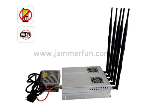 cell tower triangulation - Jammers For Sale - High Power 5 Antenna 25W 3G Cell phone WiFi Signal Jammer Blocker