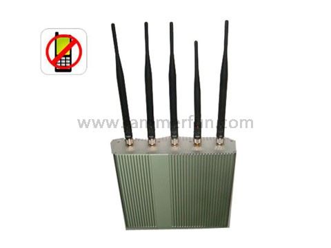 blocker spy - Buy Cell Jammer - 5 Antenna Cell Phone Jammer With Remote Control (3G, GSM, CDMA, DCS,PCS)