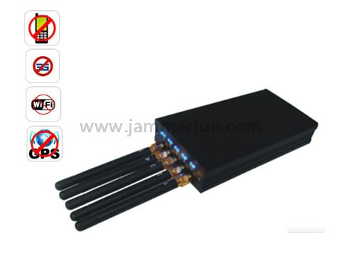 gsm cell phone jammer - Pro Jamming Device - 5 Antenna Portable Cell phone WI-Fi GPS L1 Jammer For Sale