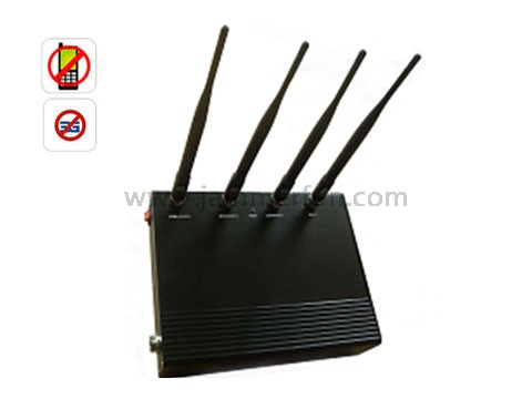 6 Antennas Cell Scrambler - Electronic Cell Phone Jammers - High Power 5 Band Cell Phone 3G Signal Jammer