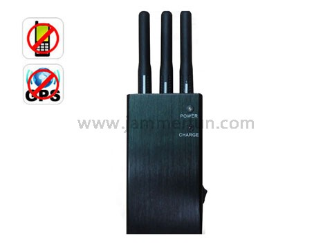 military radio jammer - Cell Jammer - 5 Band Portable GPS Cell Phone GSM CDMA DCS PHS Signal Jammer