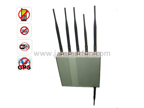 lte cellular jammer splash - Cellular Phone Jammer - 6 Antennas Cell Phone GPS WiFi Jammer With Remote Control