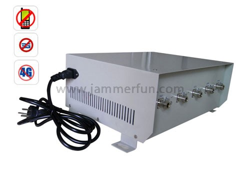 5 Antennas XM Radio Blocker - High Power 70W Cell Phone 4G Wimax Signal Jammer with Directional Antennas