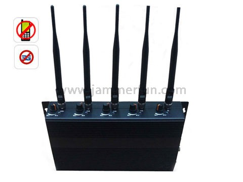 jammer gsm e gps navigator , High Power Adjustable 5 Band Cell Phone Signal Jammer - Jammer Pro