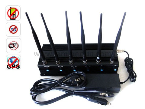 signal blocker Ballarat - Complete Functions High Power Adjustable 6 Antenna 15W WiFi GPS Mobile Phone Jammer