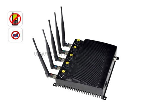 High Power Adjustable CDMA GSM DCS PHS 3G CDMA450 Cell Phone Jammer With Remote Control