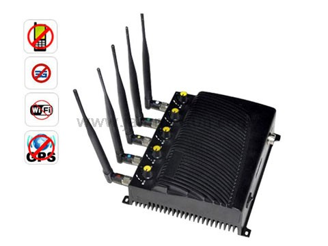 Blue tooth jammer - High Power Adjustable Cell Phone + WIFI + GPS Signal Jammer - EU Version