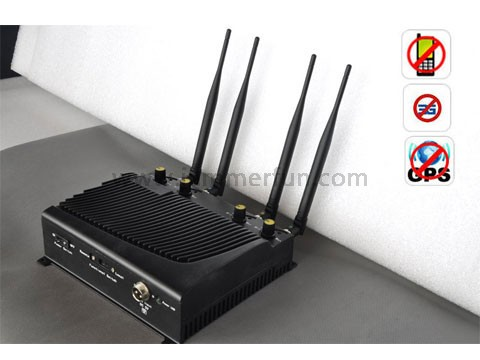 Cell jammer app | High Power Adjustable Desktop Mobile Phone + GPS Signal Jammer with Remote Control