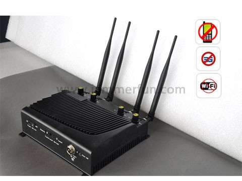 Cell phone blocker classroom | High Power Adjustable Desktop Mobile Phone + WiFi Signal Jammer with Remote Control