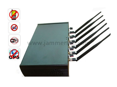 Automotive cell phone blocker - Adjustable Multifunctional High Power 6 Antenna WiFi GPS Cell Phone Jammer Blocker