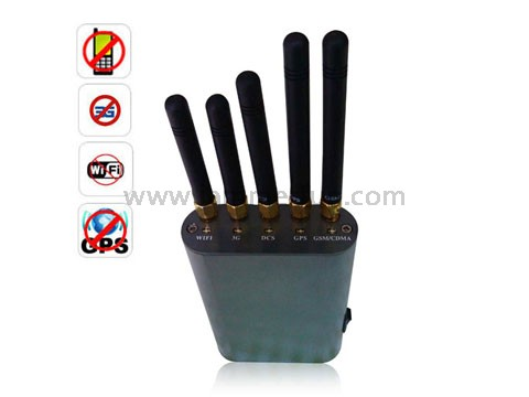 Cell Scrambler wholesale furniture - Portable Handheld Cell Phone + WiFi + GPS Signal Jammer Up To 8 Meters