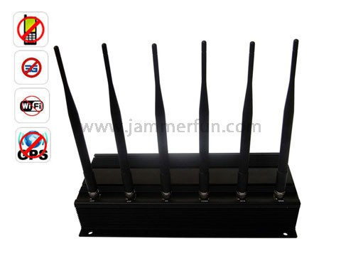 Power blocker 2 - High Quality Strong Efficient High Power 6 Antenna Cell Phone GPS WiFi Signal Jammer