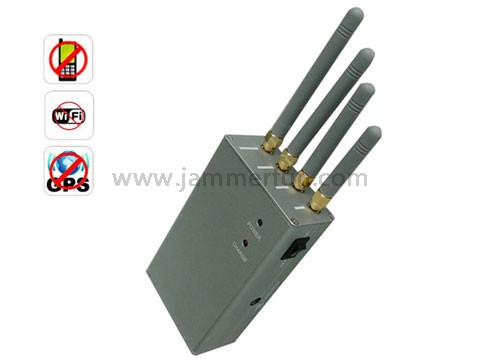 gsm phone jammer for sale , Handheld Portable High Power Cell Phone GPS Wi-Fi Signal Jammer - Omnidirectional Antennas
