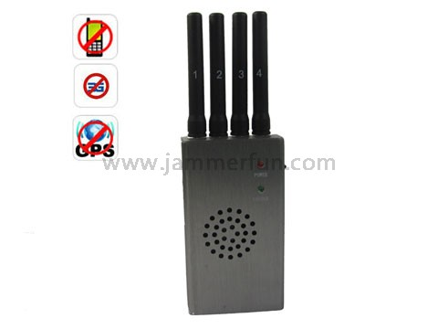 High Power Portable GPS Signal Blocker And Cell Phone Signal Jammer With Carry Case
