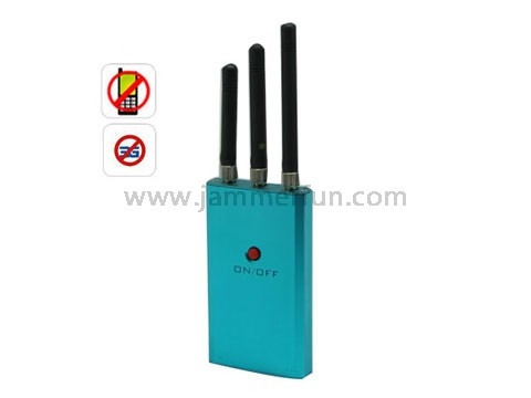 Remote Control Mobile Phone Scrambler - Portable Mini Size Medium Power Handheld Cell Phone 3G Signal Jammer