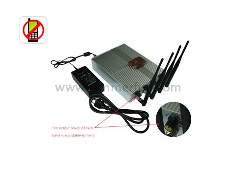 5 Bands 868MHz Blocker - Most Powerful Adjustable Remote Control Mobile Phone Signal Jammer With 60 Meters