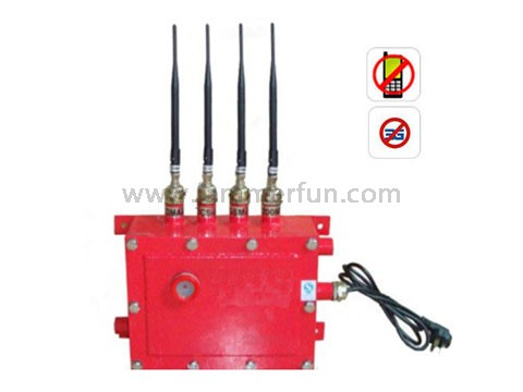Most High Power Waterproof Cell Phone 3G Signal Jammer For Oil Station Churches