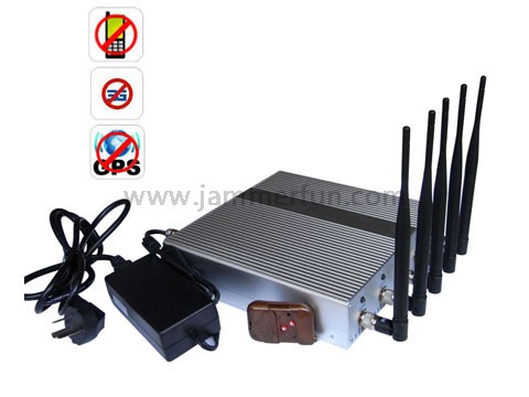 Signal Jammer Kit - 5 Band Cellphone GPS Signal Jammer with Remote Control For Sale