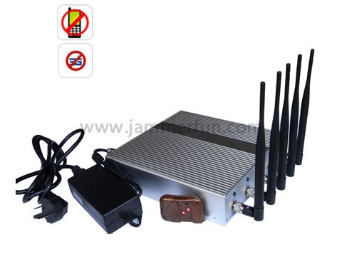 signal blocker The Gap - Most Powerful 5 Band Cellphone 3G Jammer Blocker with Remote Control