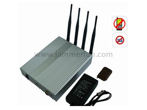 Powerful Mobile Phone Jammer 10m to 40m Shielding Radius with Remote Controller
