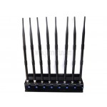 Adjustable Powerful 8 Band 2G 3G Cell Phone WIFI GPS UHF VHF Lojack Signal Jamming Device