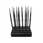 Latest 12 Antennas High Power Adjustable GSM 3G 4G LTE WIMAX WIFI GPS VHF UHF LOJACK Jammer
