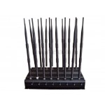 High Power Adjustable 16 Antennas 2G 3G 4G Cell Phone WiFi GPS UHF VHF Lojack RF All Bands Signal Jammer