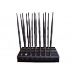 Adjustable 14 Antennas Powerful 3G 4G Cell Phone WiFi UHF VHF GPS Lojack All Bands Signal Jammer Blocker