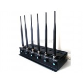 Latest Adjustable Desk High Power 4G (4G LTE + 4G Wimax) 3G Wifi Cell Phone 6 Band Jammer Device