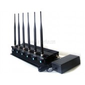High Power Adjustable Desktop Mobile Phone Jammer - New Cell Phone 3G Wifi Bluetooth UHF VHF Walkie Talkie Jammer