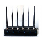 High Power 15W Adjustable 4G (4G LTE + 4G Wimax) GPS Wifi Cell Phone Jammer Blocker With Latest Technology