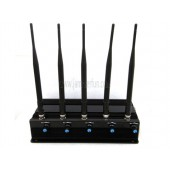 Adjustable 5 Antennas 7W High Power GSM DCS PCS CDMA 3G WIFI GPS Signal Jammer