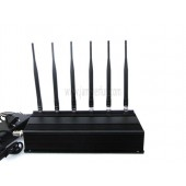 Most Powerful Portable 6 Antenna Cell Phone GPS RF Jammer - Jammer Blocker For Sale