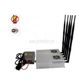 Jammers For Sale - High Power 5 Antenna 25W 3G Cell phone WiFi Signal Jammer Blocker