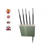 Cellular Phone Jammer - 6 Antennas Cell Phone GPS WiFi Jammer With Remote Control