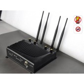 Adjustable 4 Band High Power Desktop Mobile Phone Jammer with Remote Control - EU