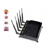 High Power Adjustable Cell Phone + WIFI + GPS Signal Jammer - EU Version