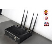 High Power Adjustable Desktop Mobile Phone + GPS Signal Jammer with Remote Control