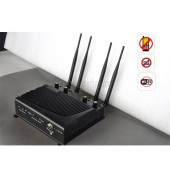 High Power Adjustable Desktop Mobile Phone + WiFi Signal Jammer with Remote Control