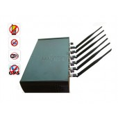 Adjustable Multifunctional High Power 6 Antenna WiFi GPS Cell Phone Jammer Blocker