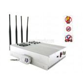 Extreme Cool Edition Adjustable High Power Desktop Cell Phone 3G GPS Signal Jammer For Sale